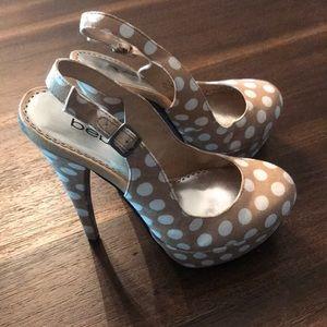 Bebe polka dot heels